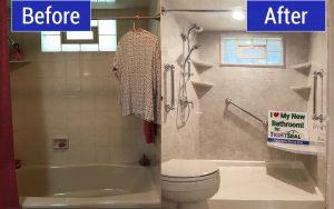 bathtub to shower remodel