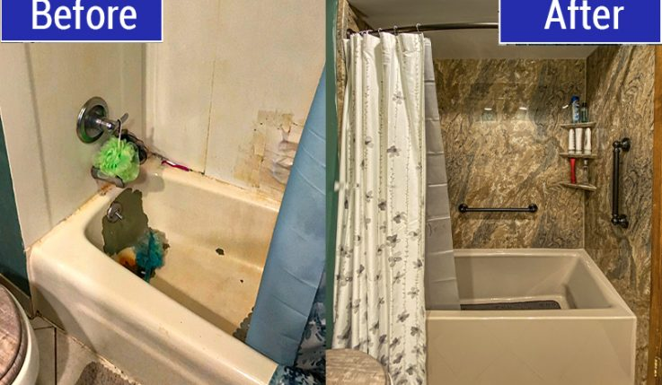 Before and After of Bathtub Replacement in Colgate, WI